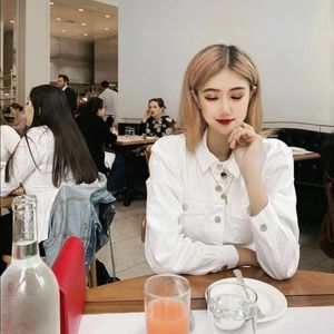 White jean shirt dress